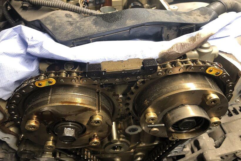 Замена цепи ГРМ Toyota Camry